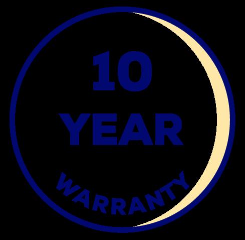 10 Yr Warranty*